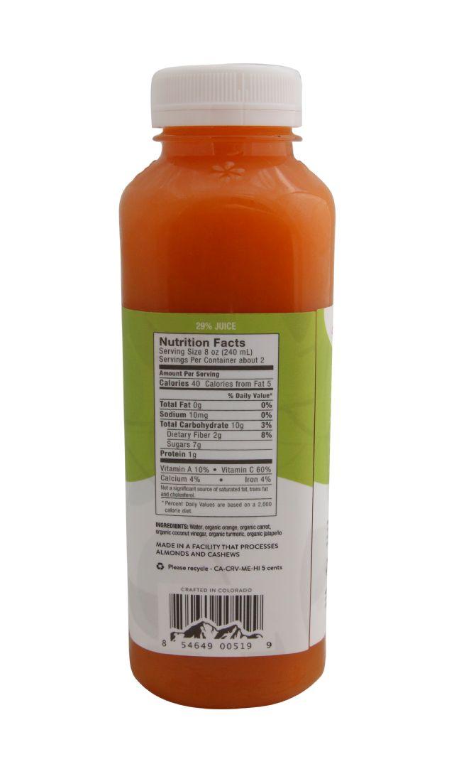 Pressery Coconut Drinking Vinegar: PresseryCarrotTurmeric_facts