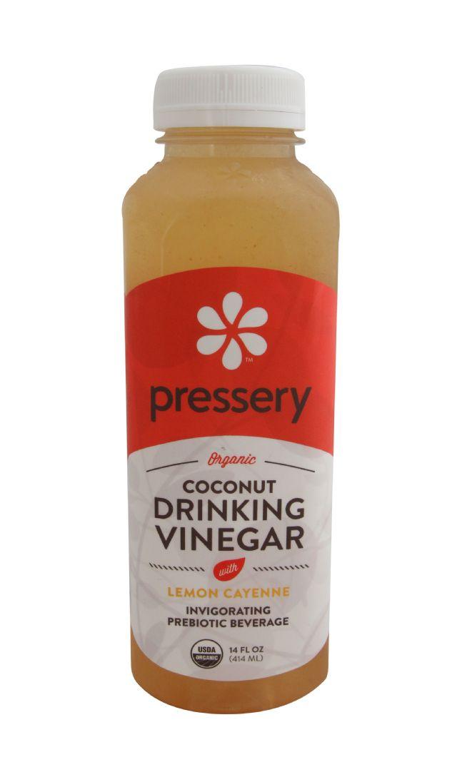 Pressery Coconut Drinking Vinegar: PresseryLemonCayenne_front