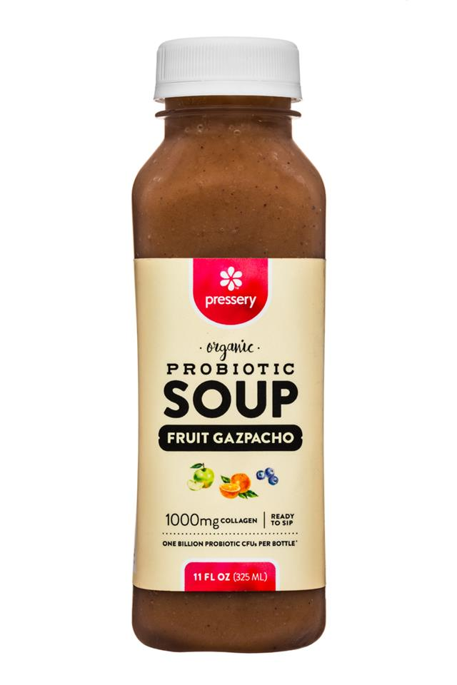 Pressery Probiotic Soup: Pressery-11oz-ProbioticSoup-FruitGazpacho-Front