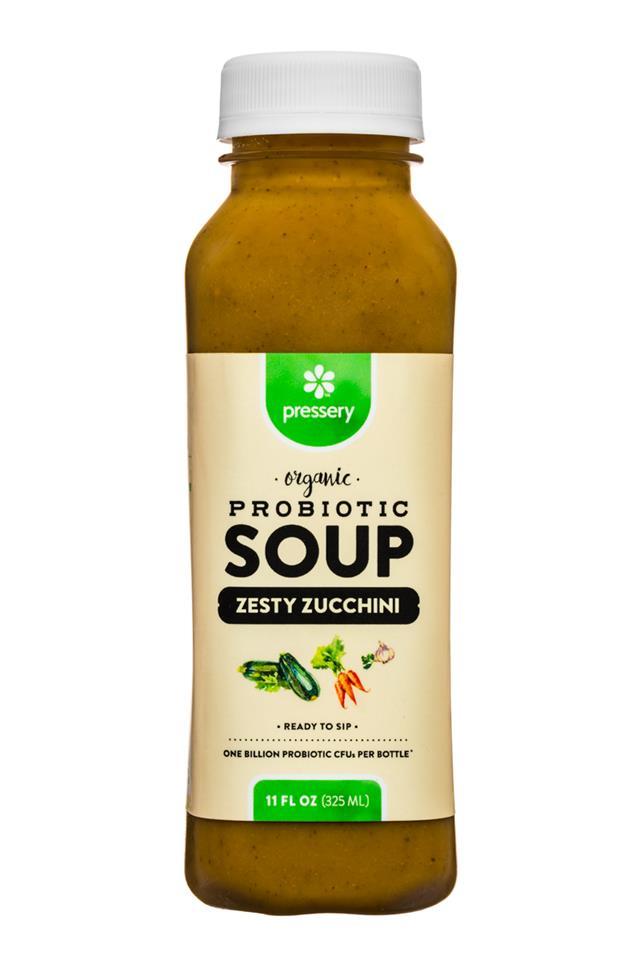 Pressery Probiotic Soup: Pressery-11oz-ProbioticSoup-ZestyZucchini-Front