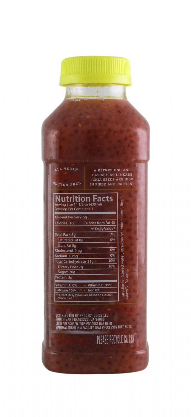 Project Juice: ProjectJuice StrawberryChia Facts