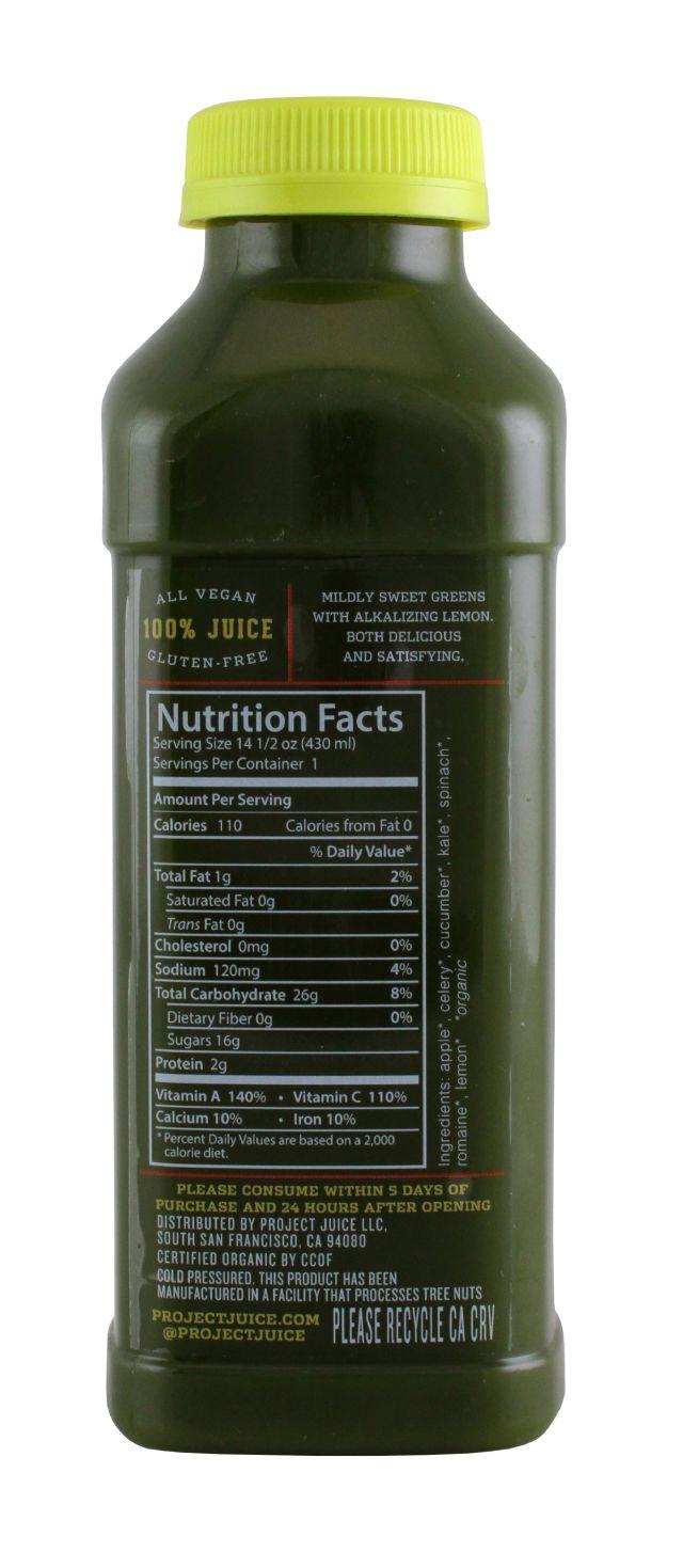 Project Juice: ProjectJuice GreenLemon Facts