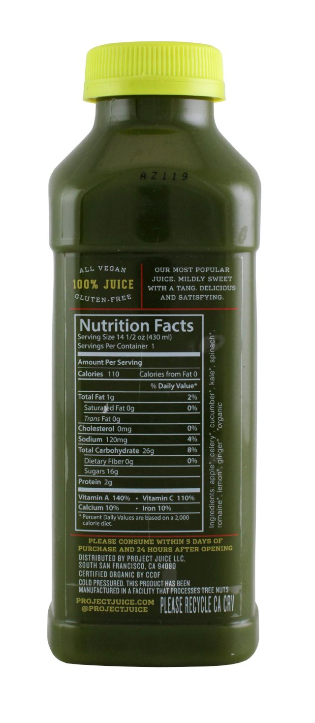 Project Juice: ProjectJuice GreenGinger Facts