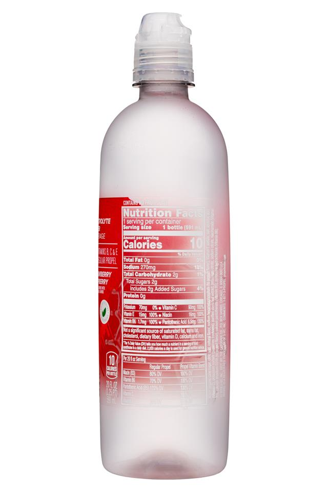 Propel Vitamin Boost: Propel-ElectrolyteWater-StrawberryRasp-Facts