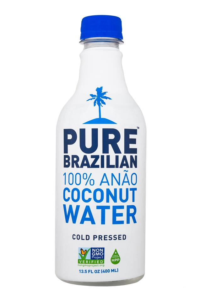 Pure Brazilian Coconut Water: PureBrazilian-CoconutWater-14oz-Front