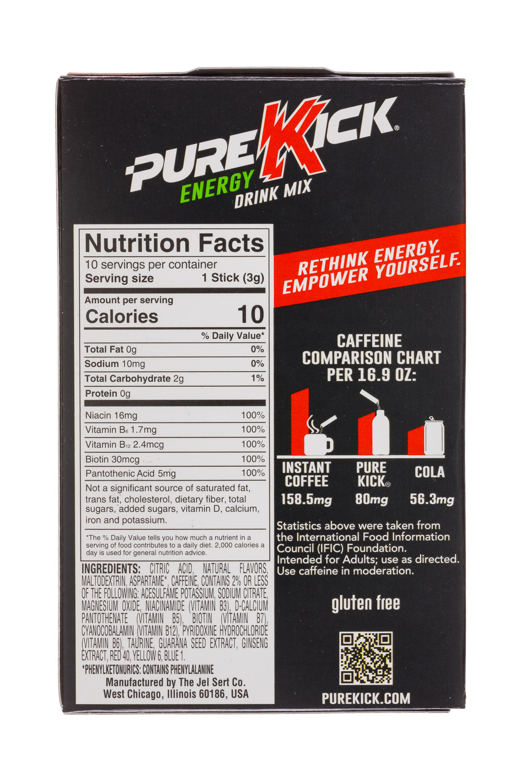 Pure Kick: PureKick-1oz-EnergyDrinkMix-BloodOrange-Facts