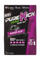 Pure Kick: PureKick-1oz-EnergyDrinkMix-MangoAcai-Front