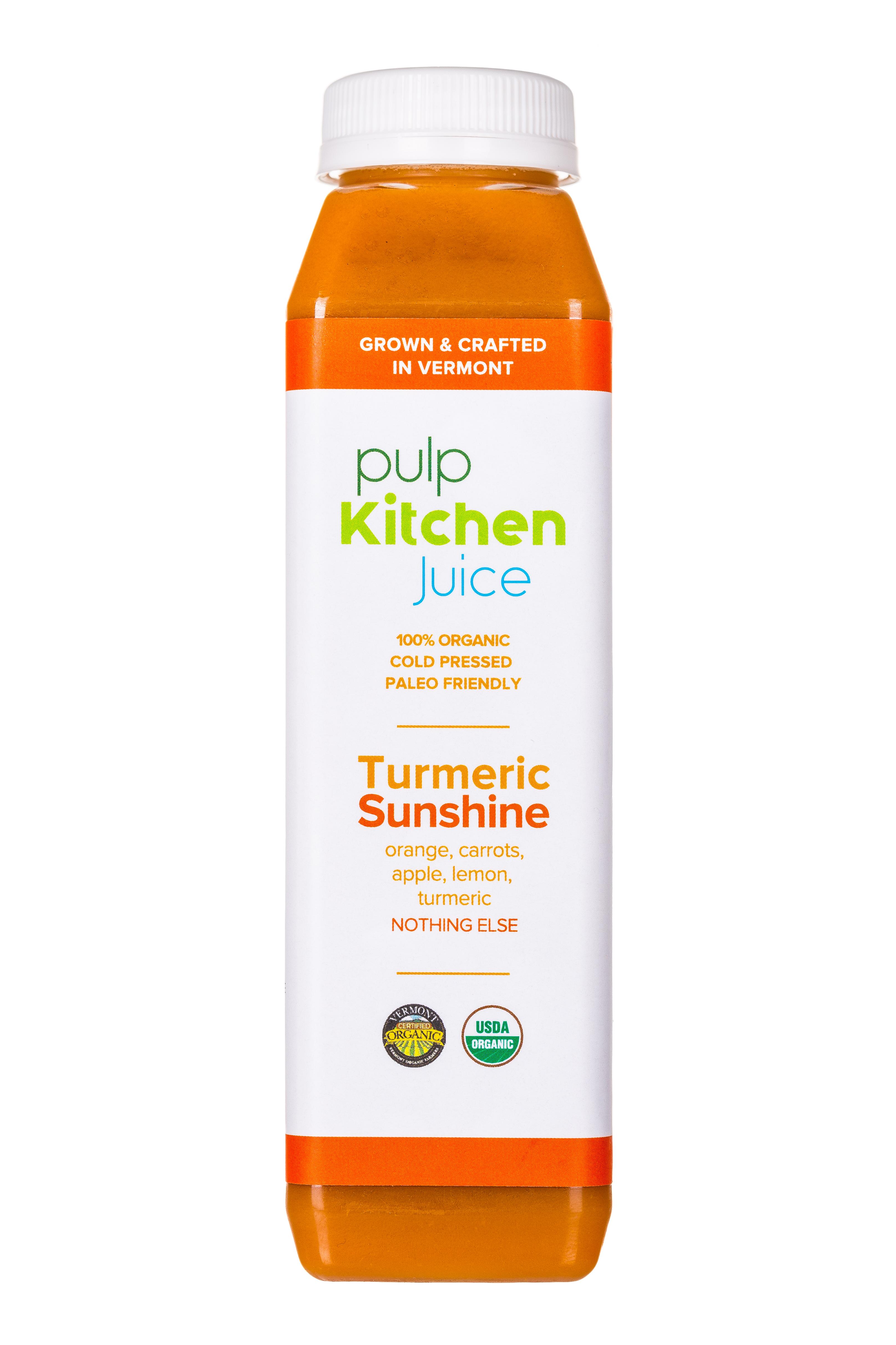 Pulp Kitchen Juice: PulpKitchen-Juice-TurmericSunshine-Front