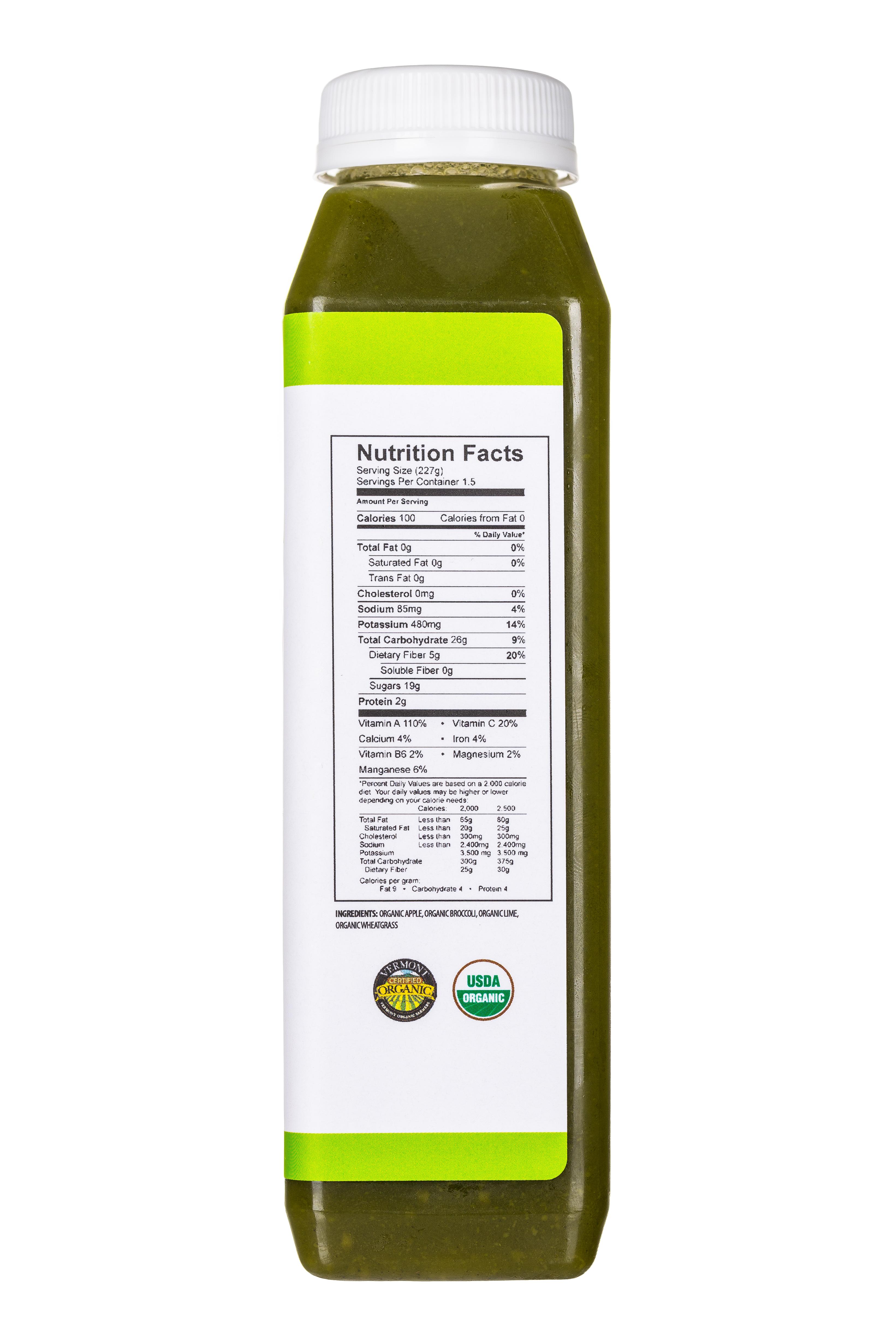 Pulp Kitchen Juice: PulpKitchen-Juice-LusciousGreens-Facts