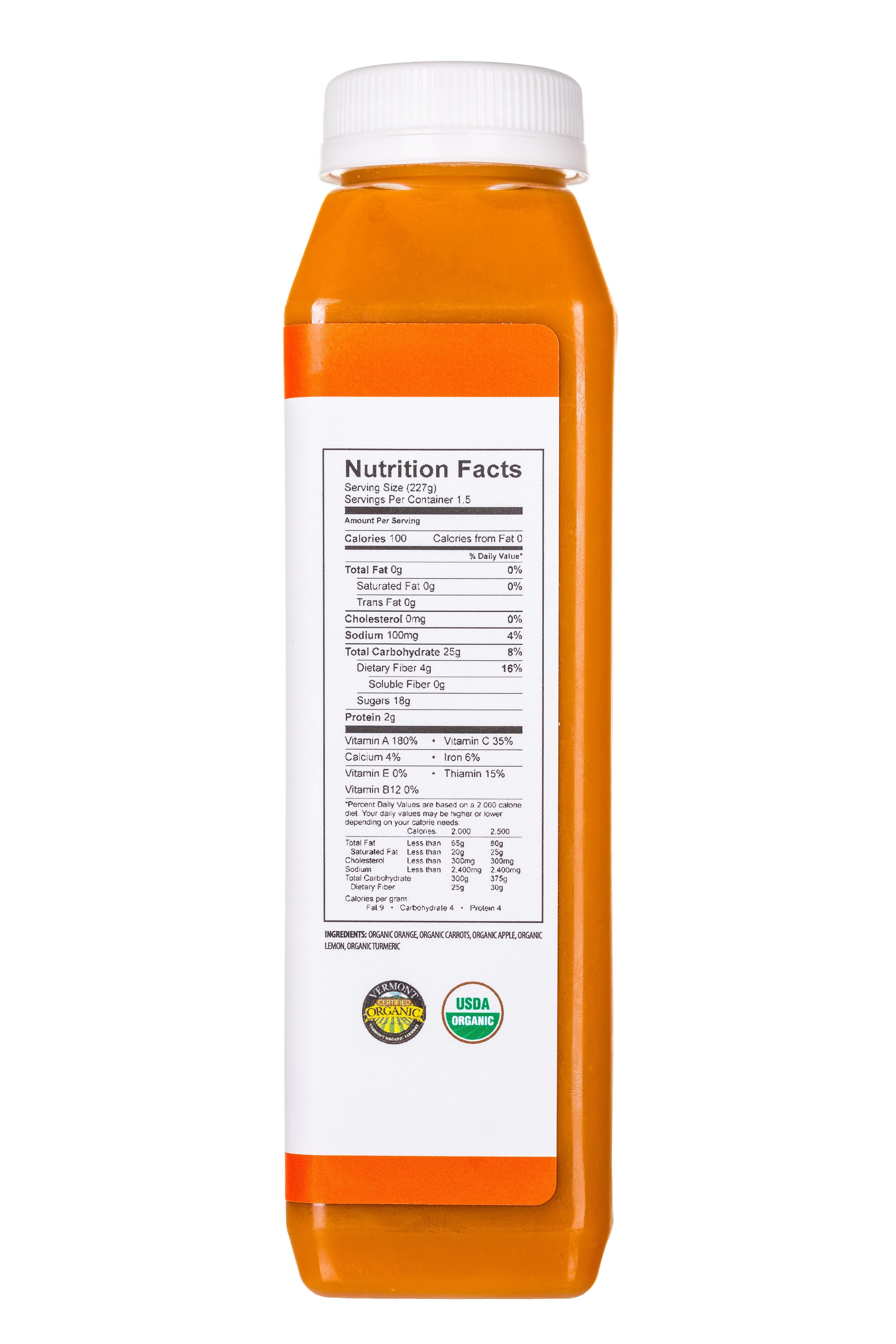 Pulp Kitchen Juice: PulpKitchen-Juice-TurmericSunshine-Facts