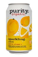Purity Organic Sparkling: Purity-12ozCan-Sparkling-Lemon-Front