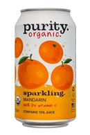 Purity Organic Sparkling: Purity-12ozCan-Sparkling-Mandarin-Front