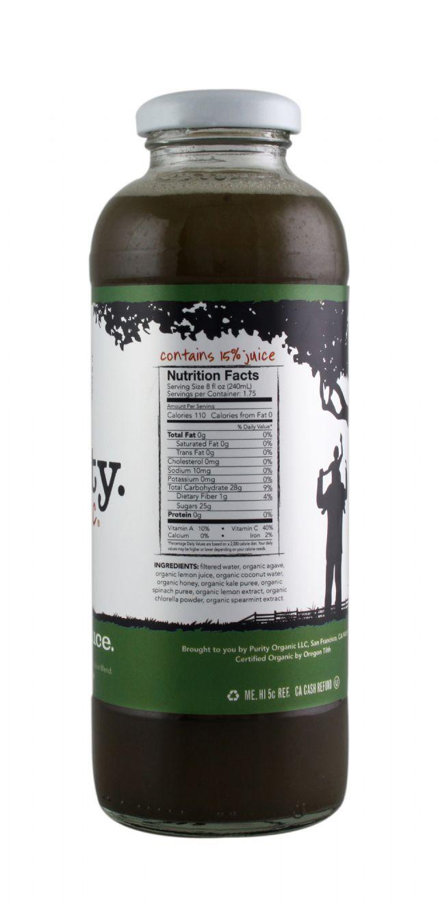 Green Lemonade | Purity Organic Superjuice | BevNET com