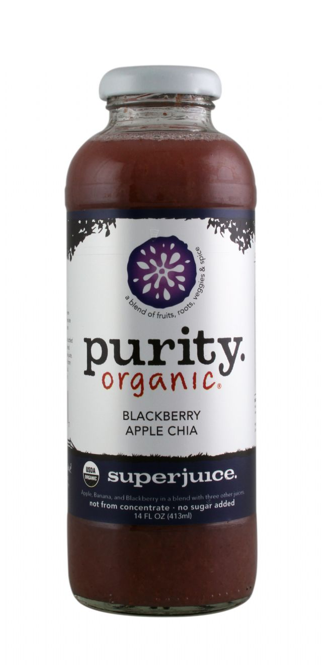 Purity Organic Superjuice: PurityOrganic BlackberryAppleChia Front