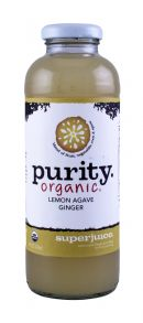 Purity Organic Superjuice: Purity LemonGinger Front