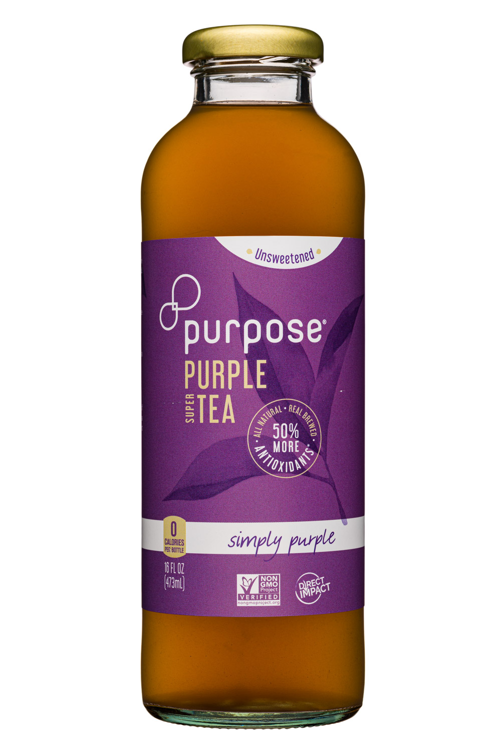 Purpose Purple Tea: PurposeTea-16oz-PurpleTea-Unsweet-SimplyPurple-Front