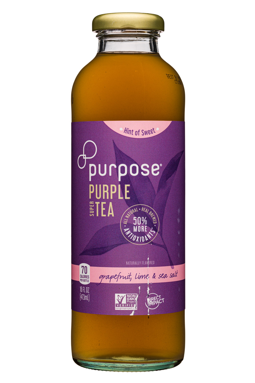 Purpose Purple Tea: PurposeTea-16oz-PurpleTea-HintSweet-GrapefruitLimeSalt-Fornt