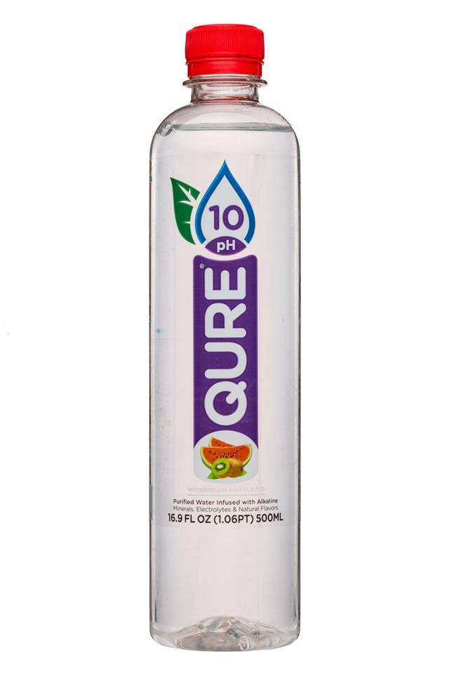 Qure: Qure-17oz-10PHWater-WatermelonKiwi-Front