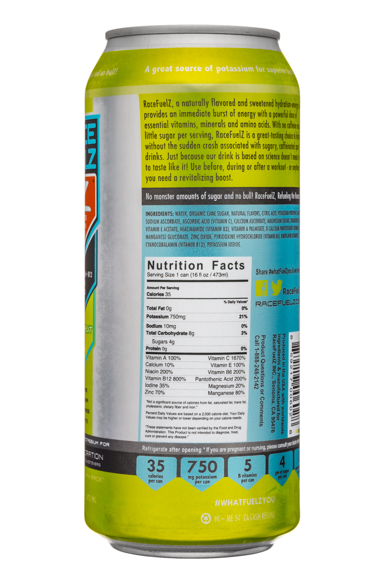 Race Fuelz: RaceFuelz-16oz-GrapefruitLime-Facts