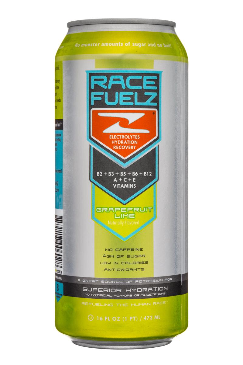 Race Fuelz: RaceFuelz-16oz-GrapefruitLime-Front