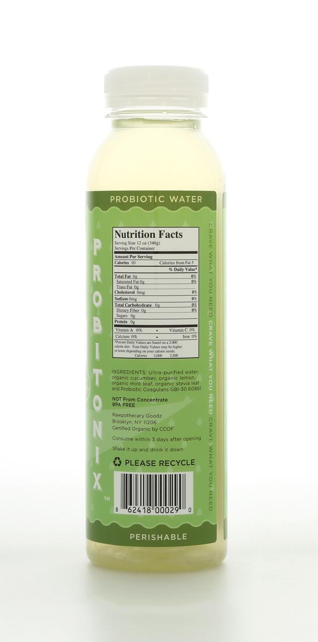 Rawpothecary Probiotic Water: Rawpothecary CucLemMint Back