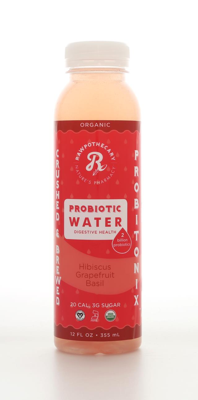 Rawpothecary Probiotic Water: Rawpothecary HibiscusGrapefruitBasil Front