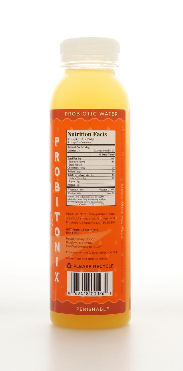 Rawpothecary Probiotic Water: Rawpothecary OrangeGinger Back