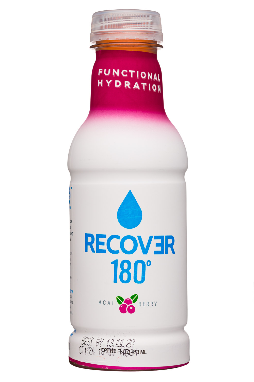 Recover 180°: Recover180-16oz-Hydration-AcaiBerry-Front
