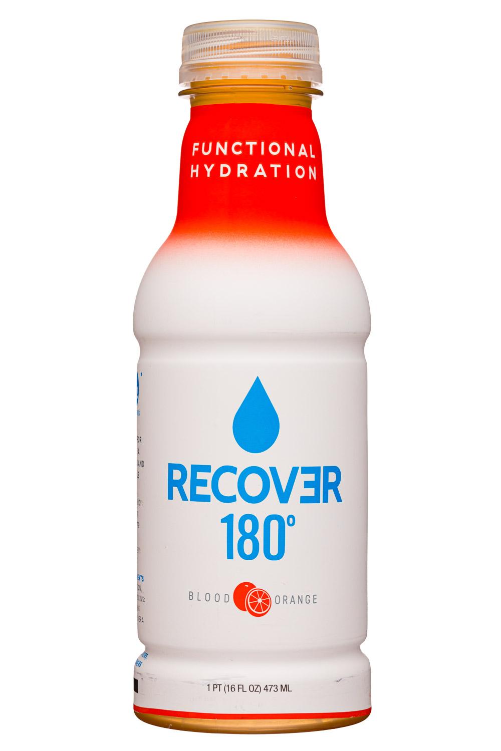 Recover 180°: Recover180-16oz-Hydration-BloodOrange-Front