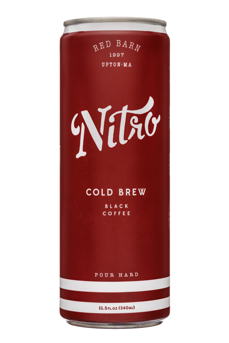 Red Barn Coffee Roasters: RedBarn-12oz-Nitro-ColdBrew-Black-Front