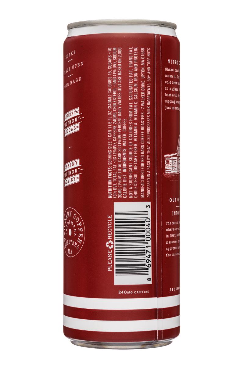 Red Barn Coffee Roasters: RedBarn-12oz-Nitro-ColdBrew-Black-Facts