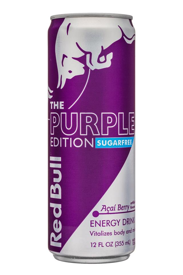 Red Bull Editions: RedBull-12oz-SugarFree-PurpleEdition-Acai-Front