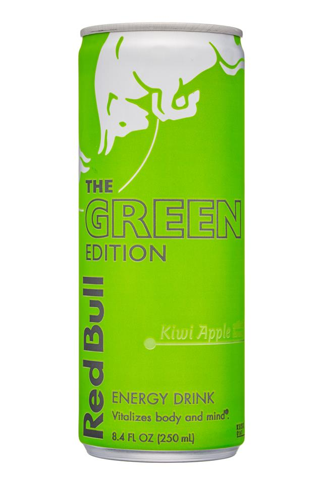 Red Bull Editions: RedBull-8oz-TheGreenEdition-KiwiApple-Front