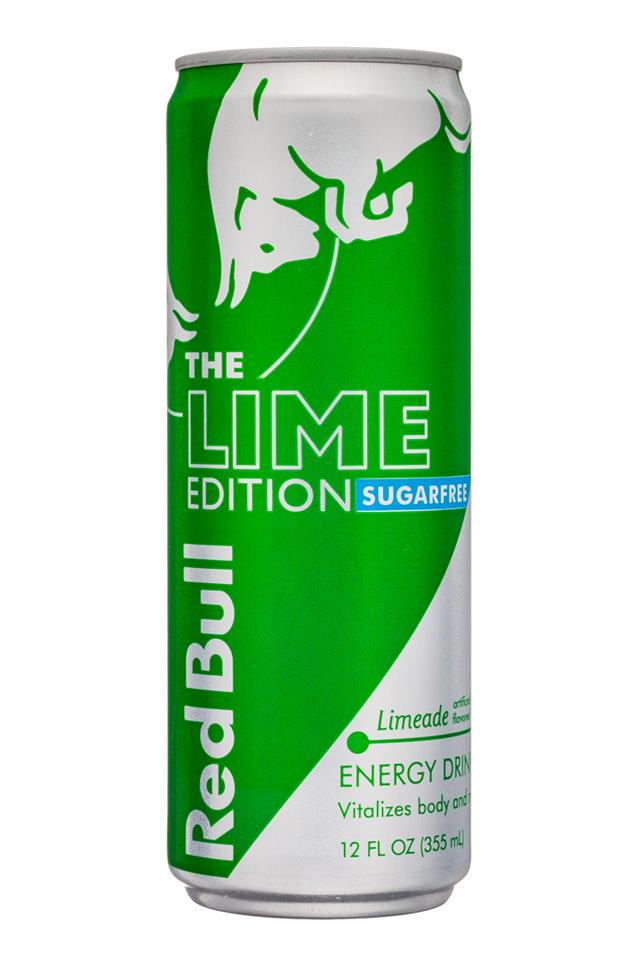 Red Bull Editions: RedBull-12oz-SugarFree-LimeEdition-Limeade-Front