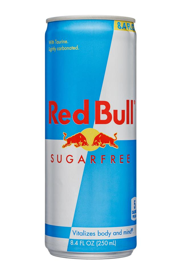 Red Bull Energy Drink: RedBull-8oz-Sugarfree-Front