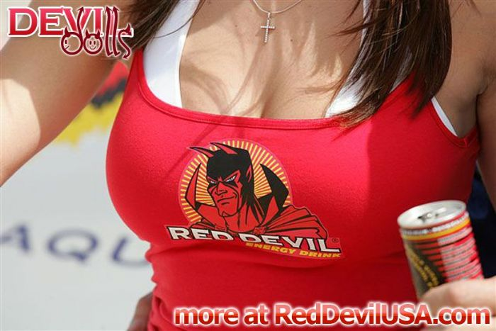 Red Devil Energy Drink: A Red Devil Doll