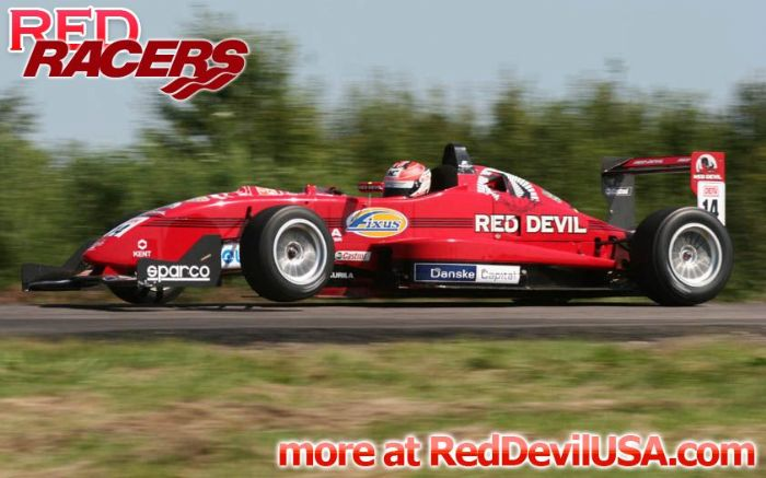 Red Devil Energy Drink: Red Devil Formula 3 Racer Rami Ràikkönen