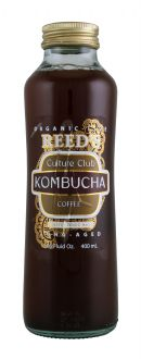 Reed's Culture Club Kombucha: ReedsKOM Coffee Front