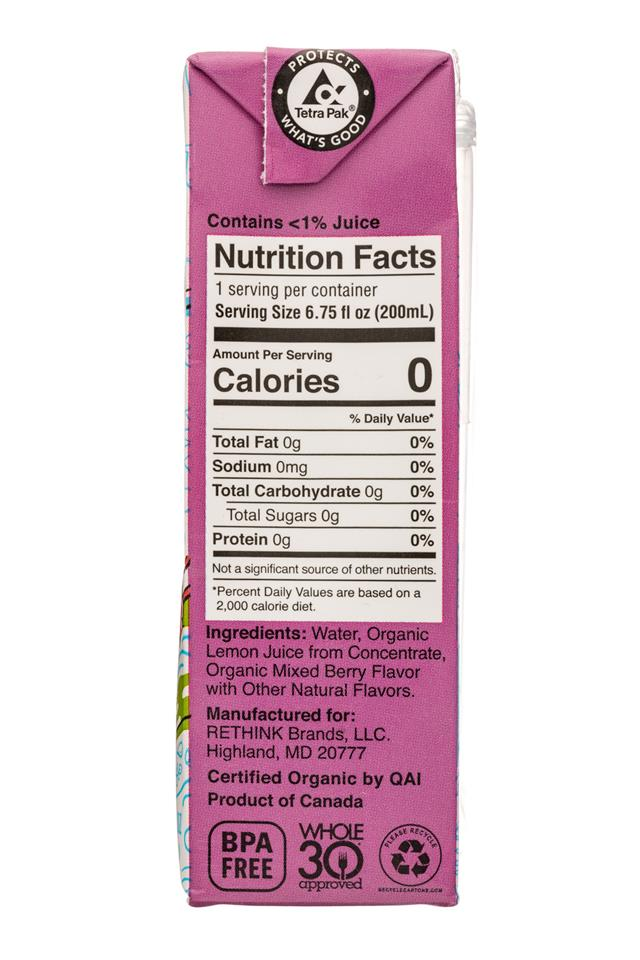 Rethink Water: Rethink-7oz-KidsWater-Berry-Facts