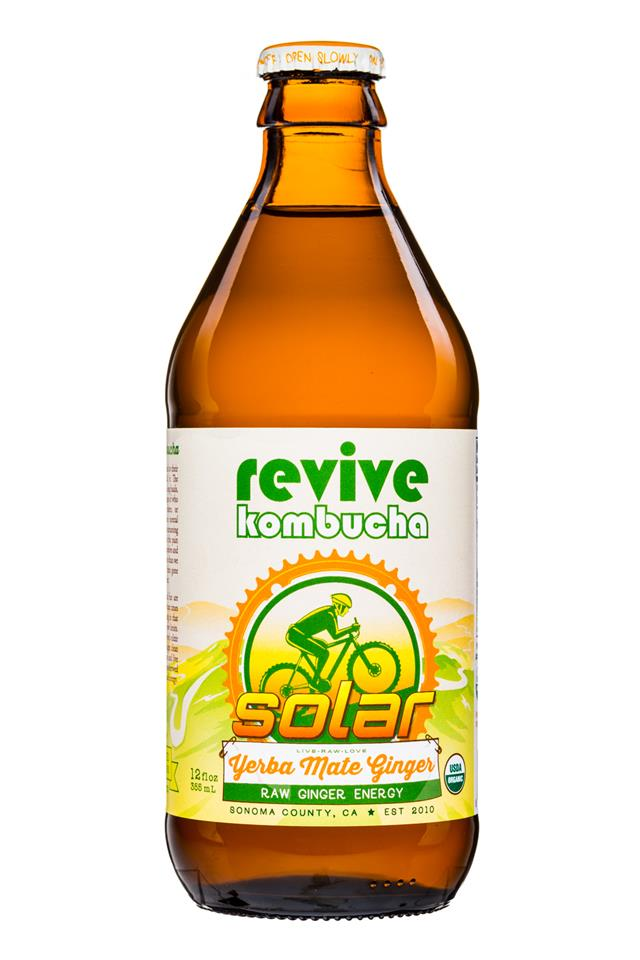 Solar Yerba Mate Brew Revive Kombucha Bevnet Com