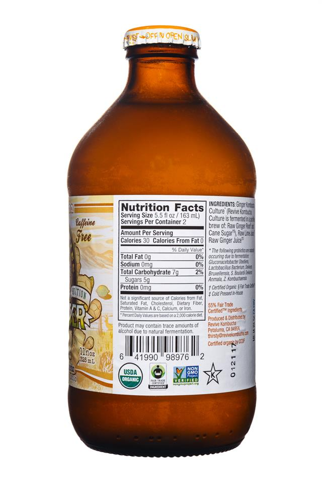 Revive Kombucha: ReviveKombucha-WildGinger-Facts