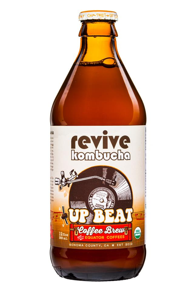 Revive Kombucha: ReviveKombucha-12oz-UpBeat-CoffeeBrew-Front