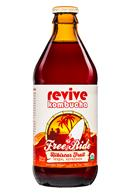 Revive Kombucha: ReviveKombucha-12oz-FreeRide-HibiscusFruit-Front