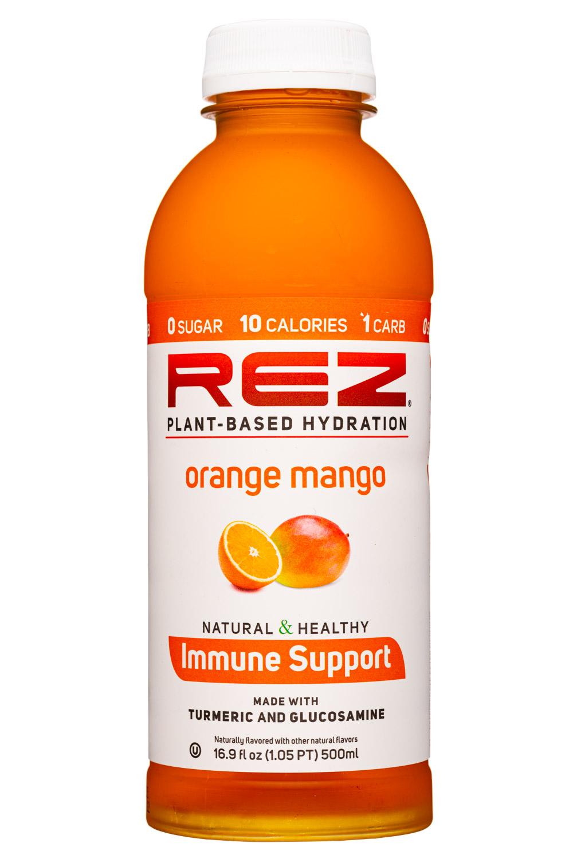 Rez Plant-Based Hydration: Rez-17oz-2021-ImmuneSupport-OrangeMango-Front