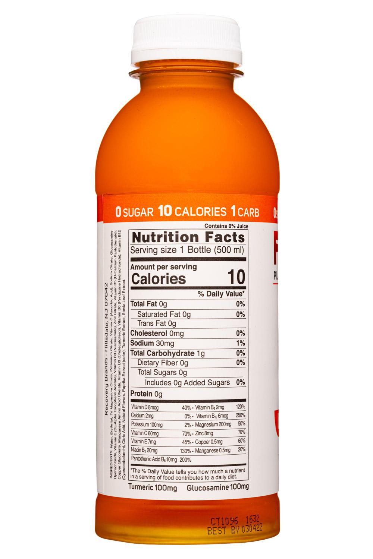 Rez Plant-Based Hydration: Rez-17oz-2021-ImmuneSupport-OrangeMango-Facts