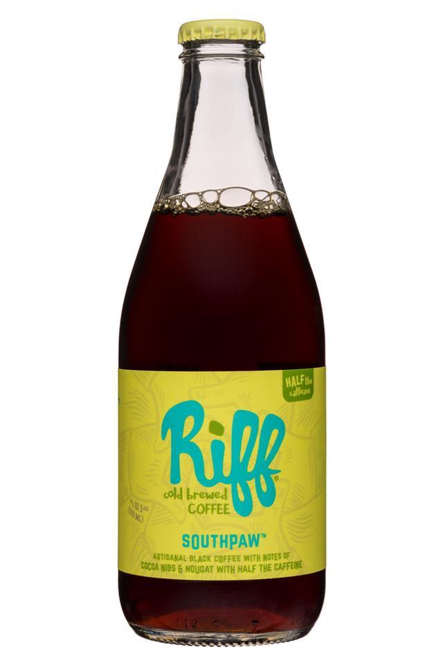 Riff Cold Brew: Riff-10oz-ColdBrewCoffee-Southpaw-Front