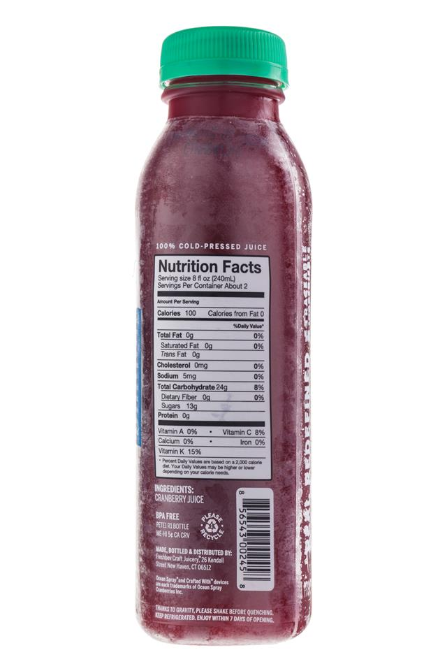 Ripe Craft Juice: RipeCraft-Juice-Unsweet-Cranberry-Facts