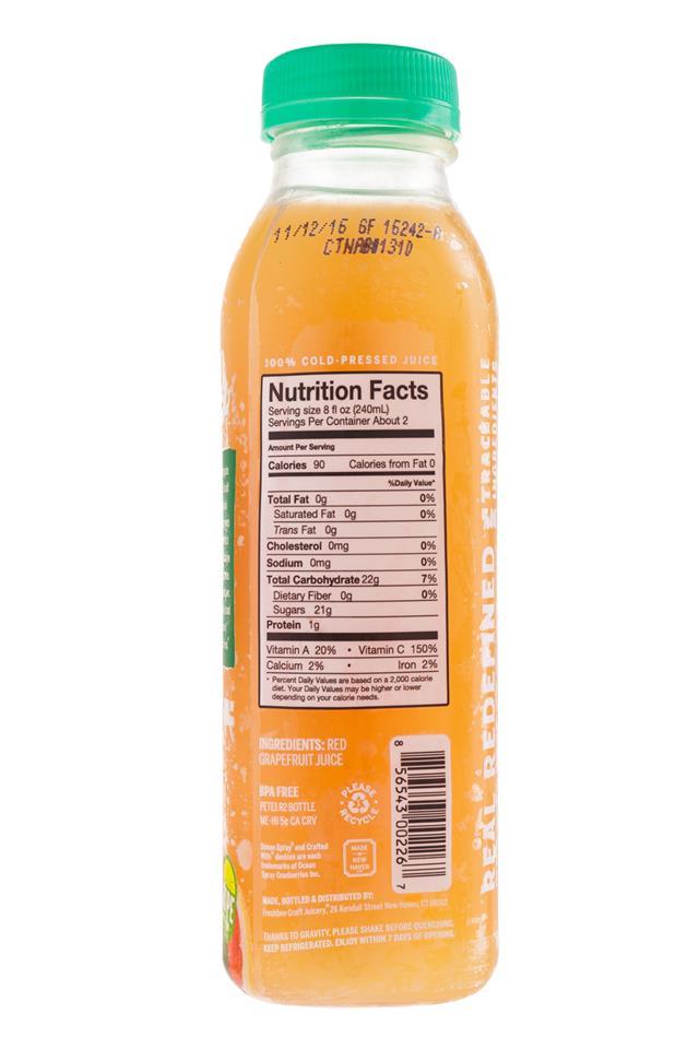 Ripe Craft Juice: RipeCraft-Juice-RedGrapefruit-Facts