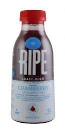 Ripe Craft Juice: Ripe UnsweetCran Front