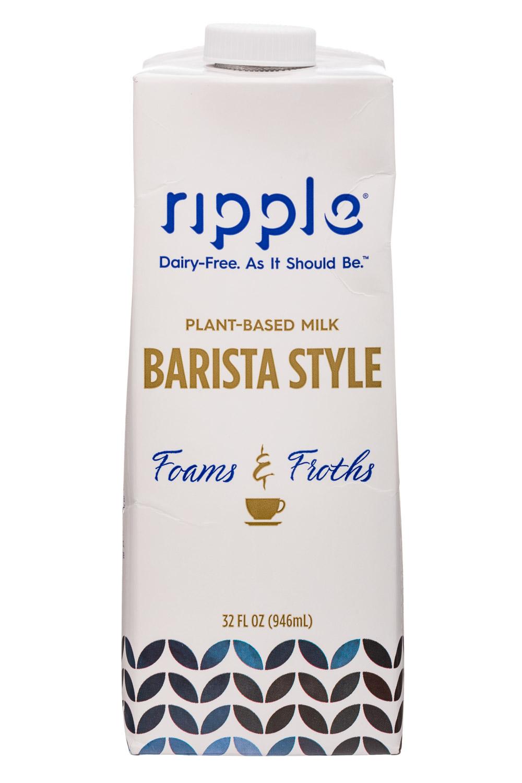 Ripple Foods: Ripple-32oz-BaristaStyle-PBMilk-Front